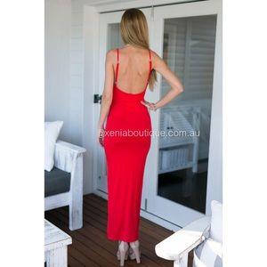 Xenia Boutique Dresses - Xenia Boutique Red Amphoria Maxi Dress 0afe82ed2
